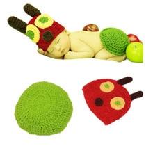 Accessoires de photographie pour nouveau-nés   Livraison gratuite, tricot à la main, accessoires de Photo en crochet, chapeau pour nouveau-né de 0 à 4 mois