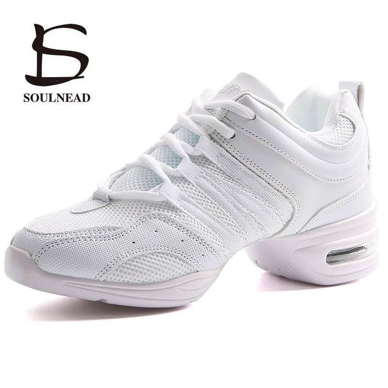 Women's Dancing Shoes Sneakers Woman Jazz Dance Mesh Flat Outdoor Sports Ladies Girl's Modern Casual