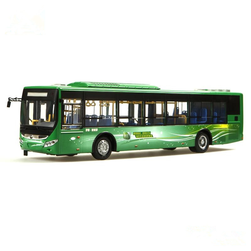 Collectible Alloy Model Gift 1:42 Original Yutong ZK6125CHEVPG21 Hybrid City Transit Bus Vehicle DieCast Toy Model Decoration alloy model 1 24 scale kinglong higer bev pure electric transit bus vehicle diecast toy model for collection decoration
