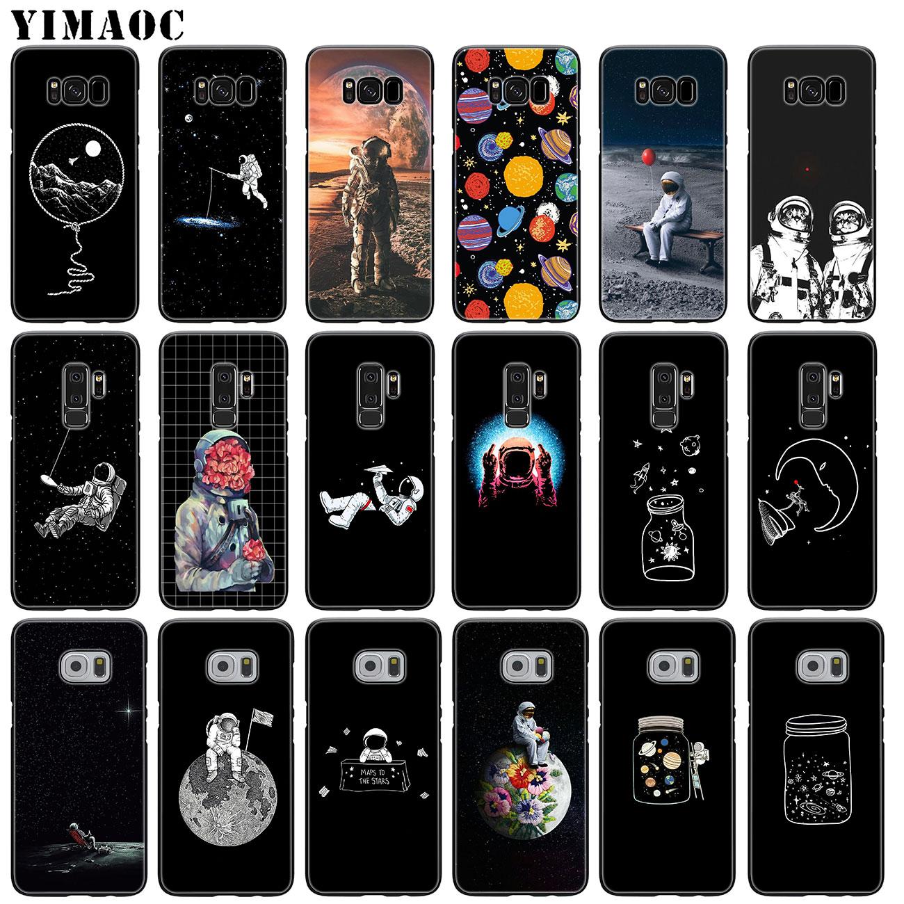 YIMAOC Planeta, astronauta universo espacio Luna suave silicona teléfono funda para Samsung Galaxy S10 S9 S8 Plus S7 S6 Edge S10e E Cubierta