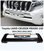 Car Front BUMPER GUARD For Toyota LAND CRUISER PRADO FJ150 2014.2015.2016.2017 BUMPER Plate High Quality Auto Accessories