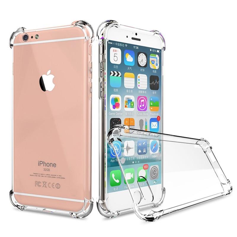 Funda de TPU de silicona blanda a prueba de golpes para iPhone 6 6s 5S 5 S SE 7 Plus 8 X XS Max XR 5SE, funda iPhone7, carcasas lujosas para teléfono