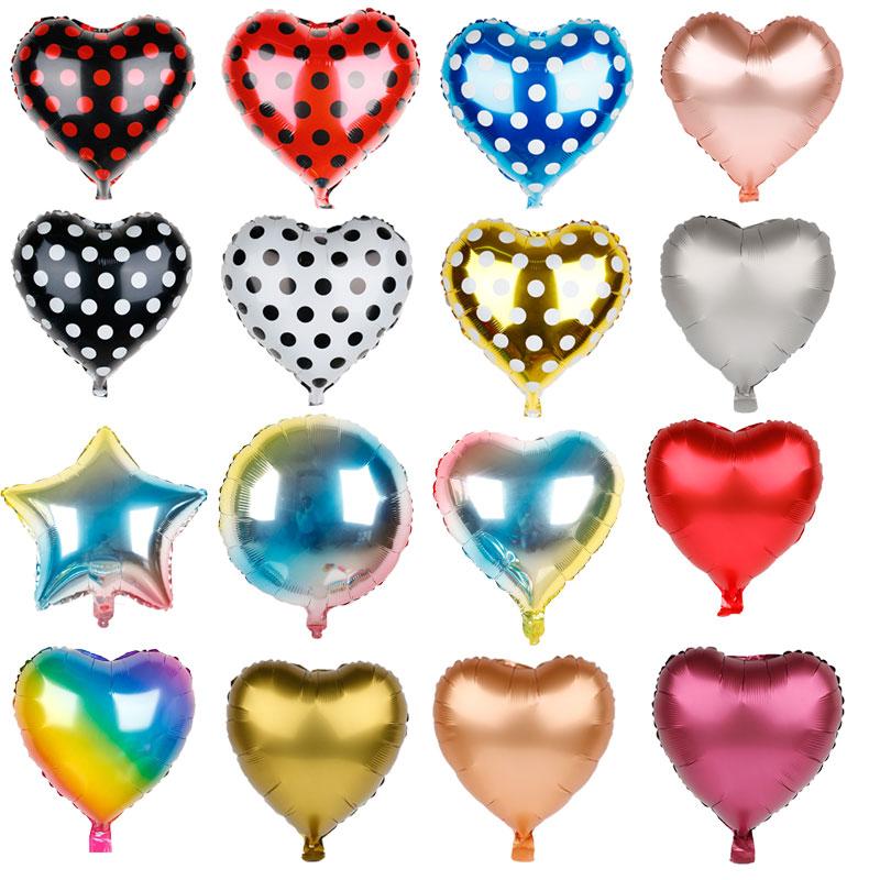 1pc 18inch Heart love Balloons Inflatable Foil Balloon Wedding Valentine Day Decorations Helium Ballon Christmas Supplies Globos