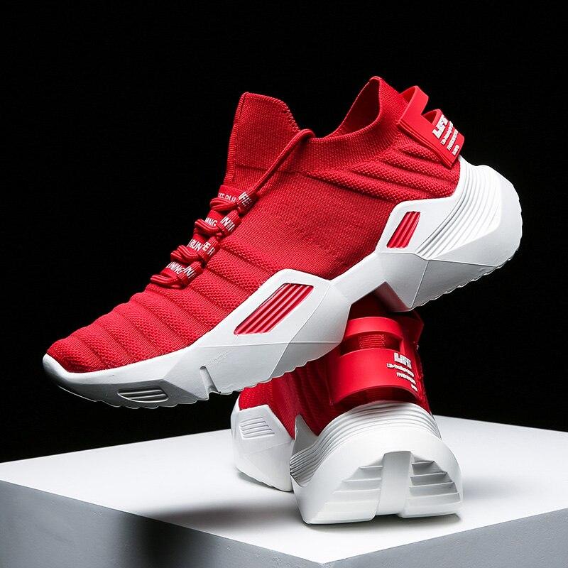Los hombres Zapatos zapatos de plataforma de los hombres súper transpirable luz entrenadores deportivos para Hombre Calcetines de moda zapatos para hombres