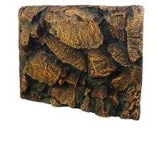 Boîte de Reptile de roche jaune   Motif 3D, fond daquarium, Gecko serpent Lizard, tortue, Tarantula, grenouille Vivarium Terrarium, décoration