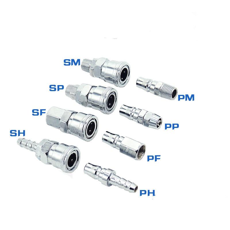 Junta rápida tipo C neumática SP30/PP30 /SM30/PM40, manguera de compresor de aire con cabeza macho y hembra, enchufe rápido, conexión neumática de tubería PU