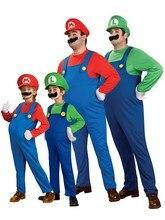 Costume de Cosplay pour famille denfants   Déguisement de fille et garçon, Costume mignon de fête, pour enfants, Super Mario Luigi, frères, plombier