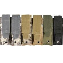 600D 9MM Molle en Nylon tactique Double Double pistolet Mag Magazine pochette fermer étui pour Combat en plein air militaire chasse nouveau