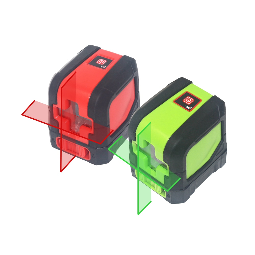 Red/Green Laser Level Bracket Self-Leveling Laser Levels IP54 2 Beam Cross Line Leverler Measure Tool Universal Clip Mini Size