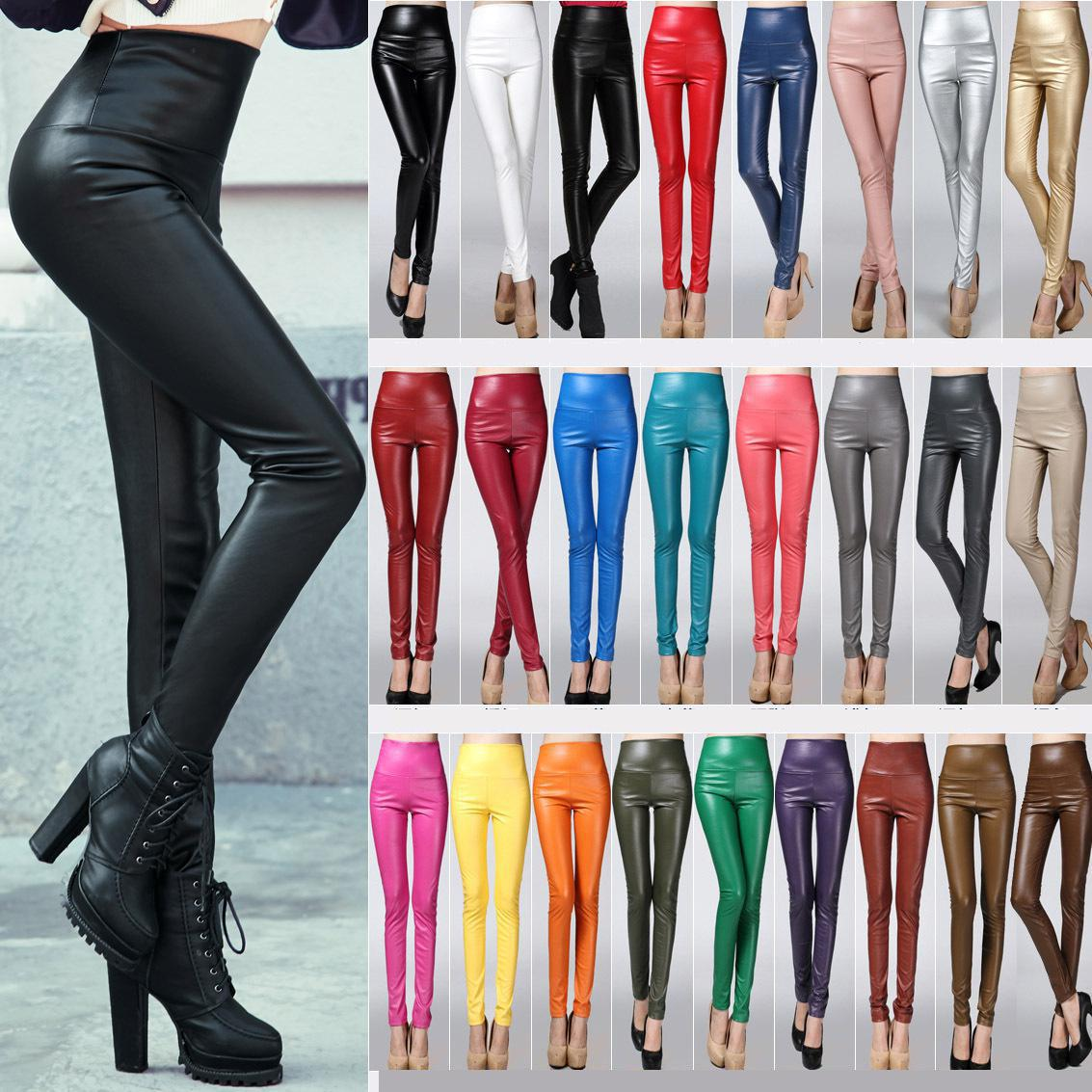 2021 Available winter And Autumn New Arrival Leather Leggings High Waist Woman Quality Legging Femme Free Shipping