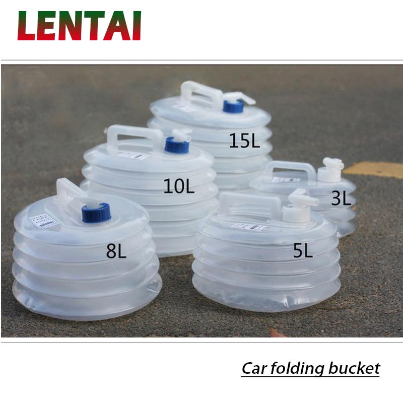 LENTAI para Ford focus 2 3 mk2 fiesta ranger Nissan qashqai j11 juke Ssangyong MG 1PC del coche plegable cubo recipiente para almacenamiento de agua