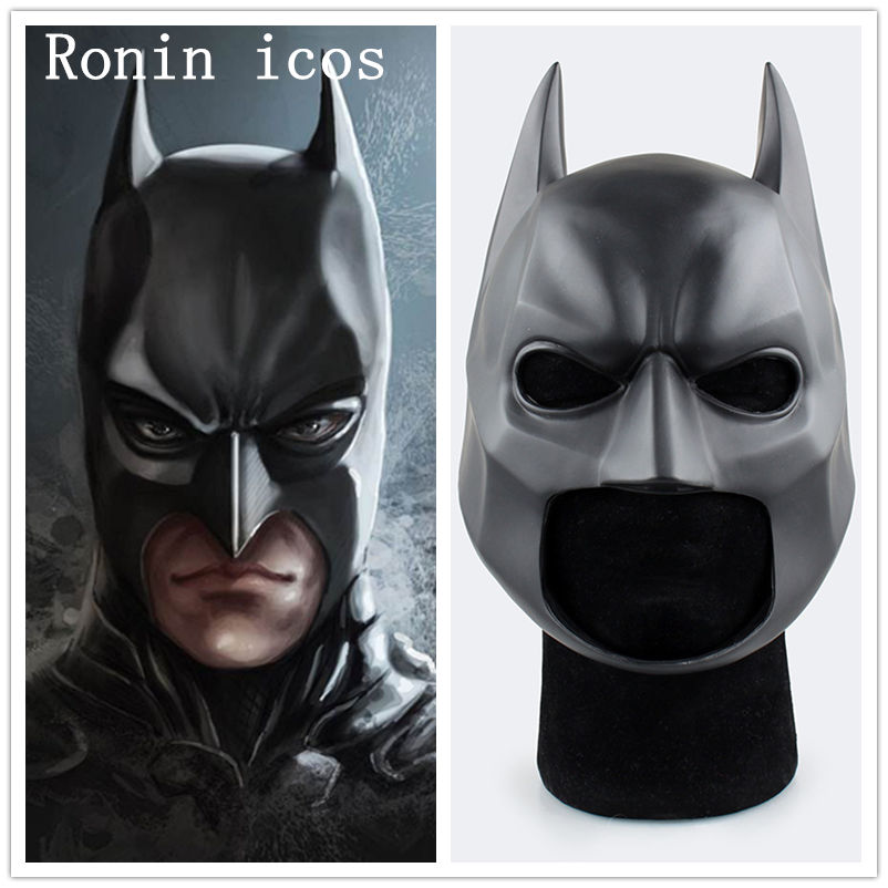 Película El caballero oscuro casco de Batman PVC máscara Flexible elegante máscara de pelota headwear precio de fábrica accesorios de disfraces Prop