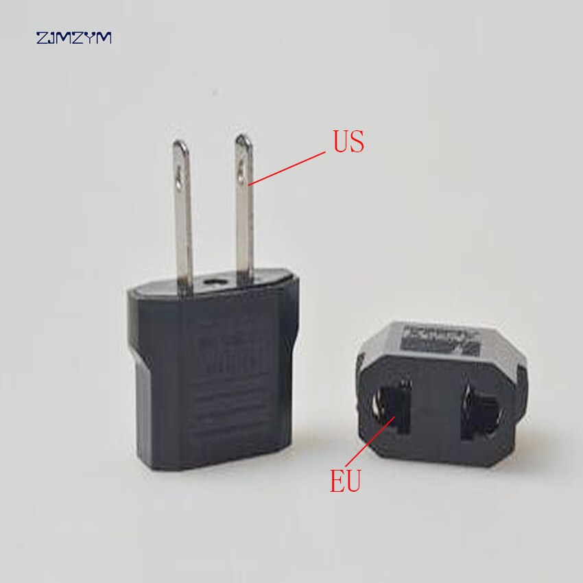 1 pc Conversor Adaptador UE EUA Adaptador de Viagem Conversor de ficha de Conversão Plugue de Passagem 2 Pin AC Plug Power Adaptor conector