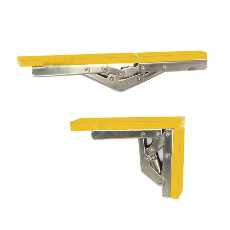 Nueva puerta plegable de 90 grados/bisagra de estante soporte escondido soporte de mesa piezas de muebles