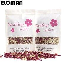 100% natural casamento confetes eloman secas pétalas de flores rosa confetes casamento e festa de aniversário decoração biodegradável 1l