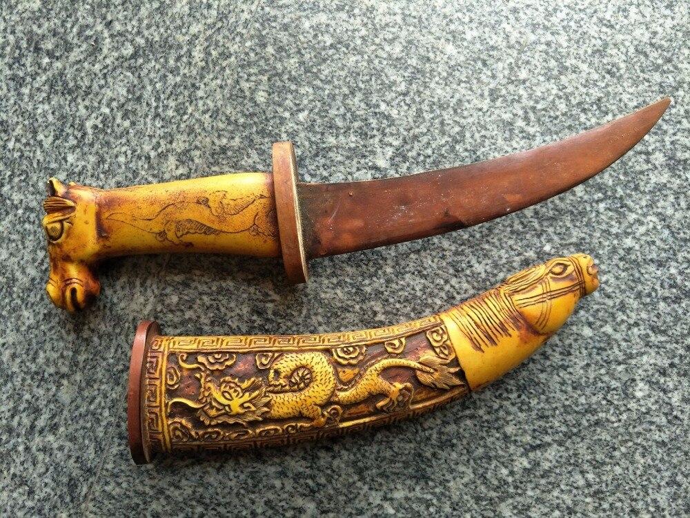 Sammlerstücke alt knochen Samurai Katana/DAO/schwert 1, hand geschnitzte schafe, beste sammlung & schmuck, freies verschiffen