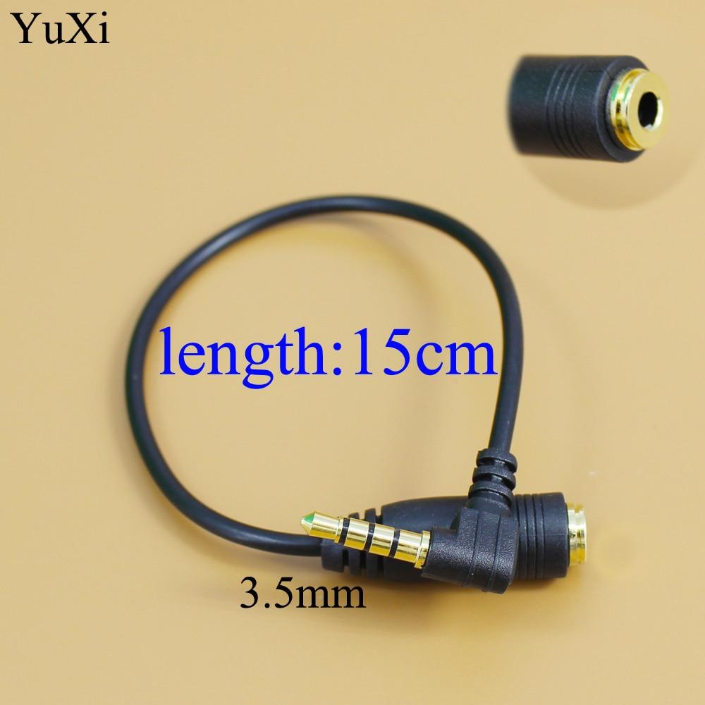 YuXi 90 Grau Preto 3.5mm Ângulo CTIA para Fones De Ouvido Handsfree Fones De Ouvido Cabo Conversor de Áudio OMTP
