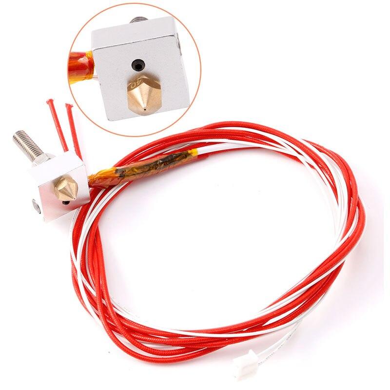 12 В 1,75 мм 0,4 мм наконечник сопла/алюминиевый нагревательный блок/труба для горла MK8 сопло экструдер нить Горячий Конец комплект 3D части принт...
