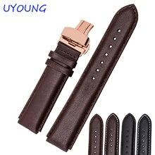 Bracelet de haute qualité en cuir véritable 22*18mm bracelet de ligne blanche pour montre intelligente HUAWEI
