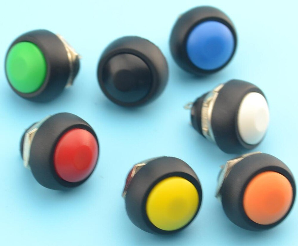 20 pces 12mm PBS-33B momentâneo à prova dwaterproof água em fora do botão swithch mini interruptor redondo