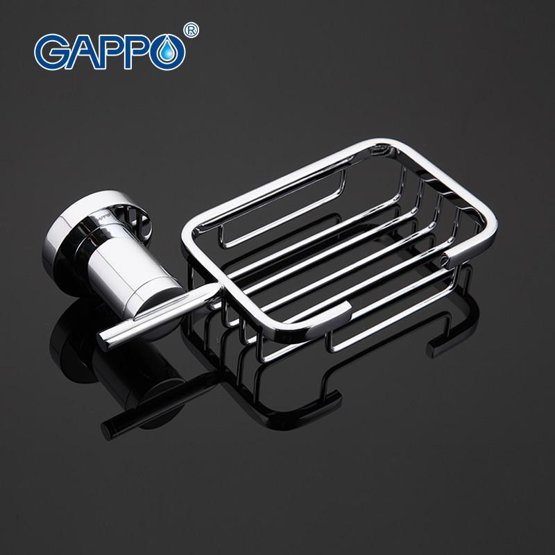 GAPPO 1 مجموعة عالية الجودة جدار موت صحن صابون حمام حامل الفولاذ المقاوم للصدأ مرحاض الصابون سلة الصابون صندوق حامل الأطباق GA1802-1