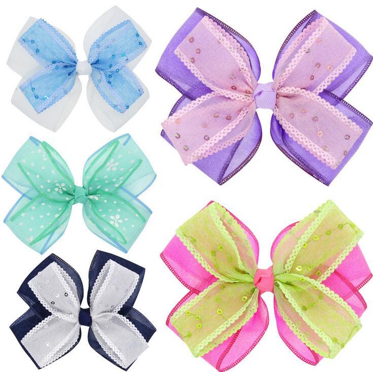 100 piezas lazos de ORGANZA para el cabello, accesorios para el cabello de boda para niñas