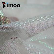 Bimoo 1 Yard perle blanc Flash or vert rouge noir argent calmar Jig tissu pêche pieuvre calmar crochet matériel de bricolage