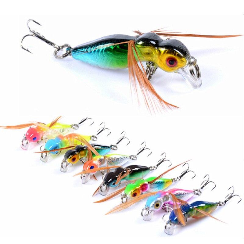ish lure surfac troll artifici jackal sea fish lure minnow crankbait tuna 8colour 4.5cm/3.4g painted hard plastic