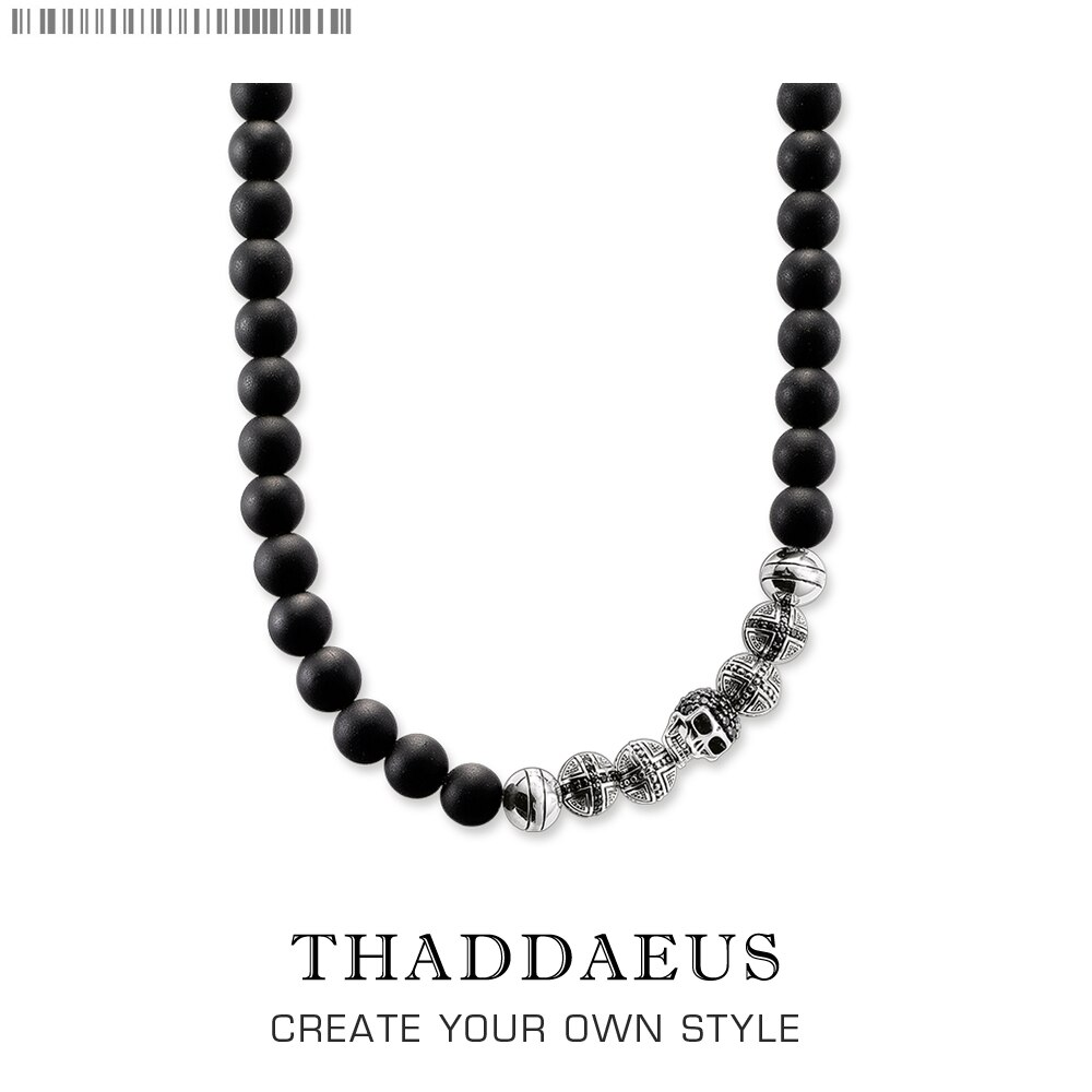 Beads Necklace Skull,2017 Brand New Ts Strand Fashion Jewelry Thomas Style Rebel Cross Bijoux Gift For Men & Women Friend