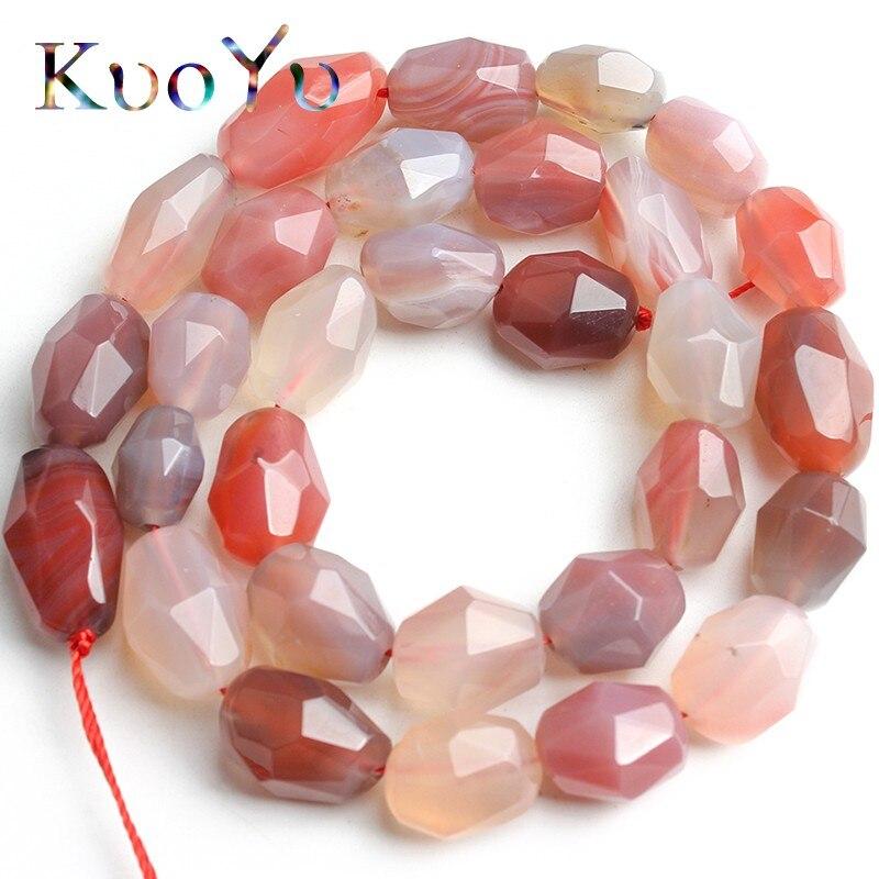 8x12mm Irregular Facetada Natural Persa Ágatas Contas Jóia Soltos Spacer Beads Para Fazer Jóias DIY Pulseira Colar 15Strand