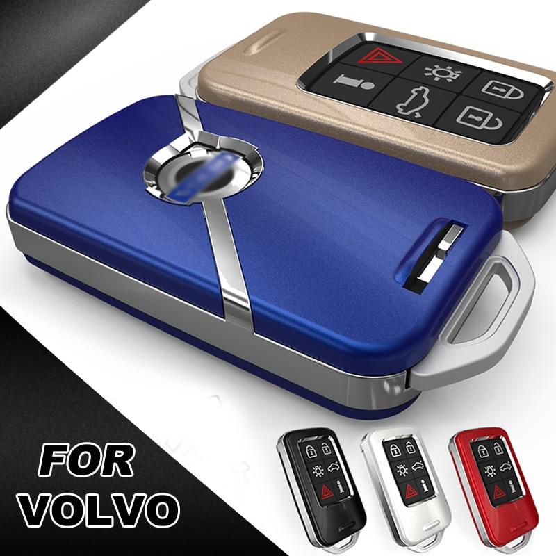Alta qualidade caso capa de proteção chave do carro para volvo s60l s80l xc60 s60 v60 estilo do carro inteligente chave do escudo cobre