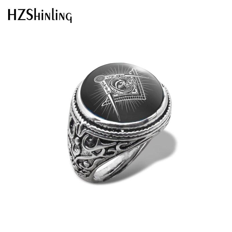 ¡Novedad de 2019! Anillo Vintage con símbolo Illuminati, anillos con forma de ojo que ven, joyería con imagen de artesanía a mano con cúpula de cristal
