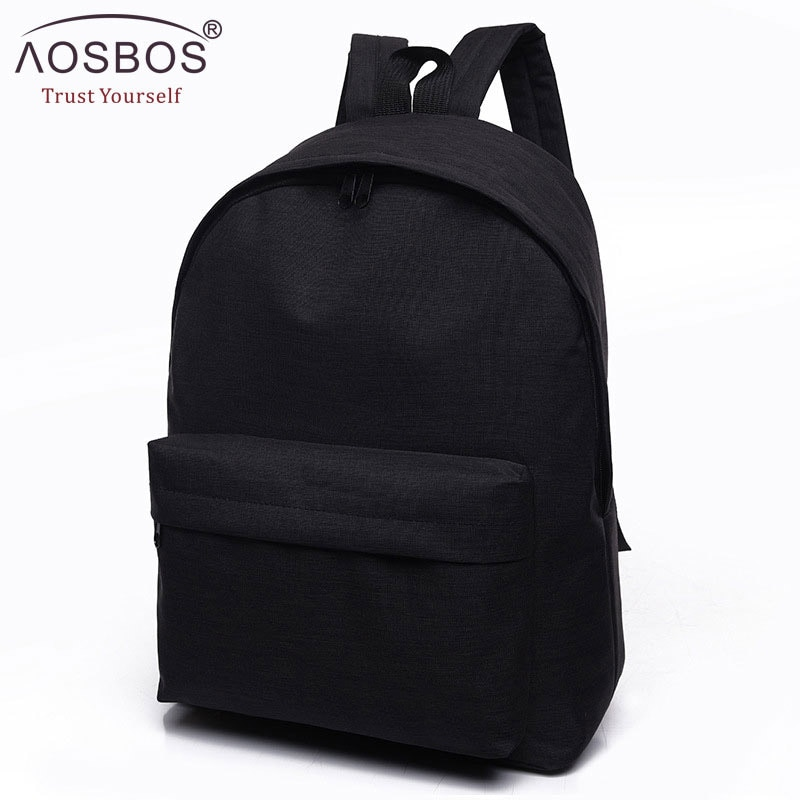 Women Men Male Canvas black Backpack College Student School Backpack Bags for Teenagers Mochila Casu