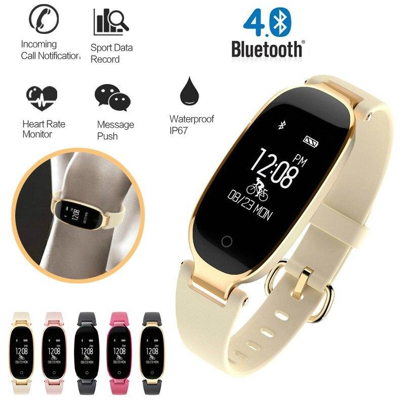 Reloj inteligente S3 a prueba de agua con Bluetooth, a la moda, para mujer, Monitor de ritmo cardíaco, reloj inteligente, reloj inteligente para Android IOS, reloj
