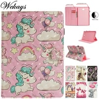 wekays for samsung tab a 10 1 t580 cartoon unicorn 3d leather case for samsung galaxy tab a6 a 2016 10 1 t585 sm t580 cover case