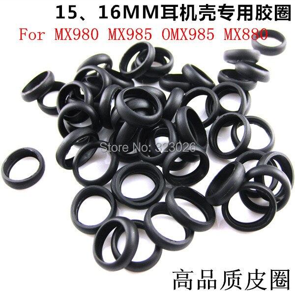Anillo de goma de auriculares 15mm 16mm para MX980 MX985 OMX985 MX880 2 uds (enviar 1 par de oreja de espuma como regalo)