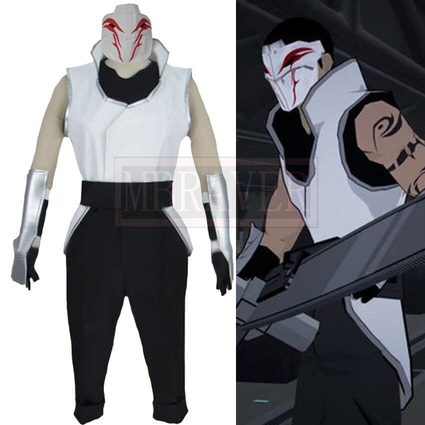 El juego completo del traje de Cosplay de RWBY Fang Blanco incluye la máscara hecha en cualquier tamaño