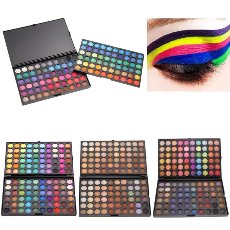 120 Colors Eyeshadow Concealer Palette Makeup Set Shimmer Matte Eye Shadow Cosmetics Facial Eyes Make Up Beauty Long-lasting