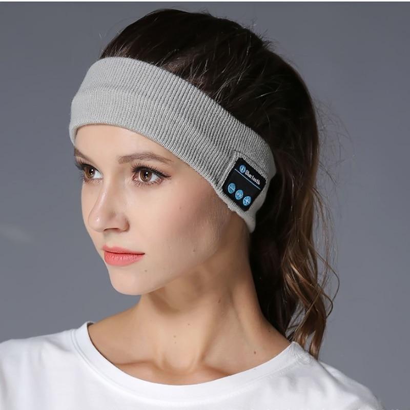 Deporte bufanda Sweatband Bluetooth auriculares inalámbrico Yoga deporte diadema auricular lavable ejercicio Jogging baile música tija