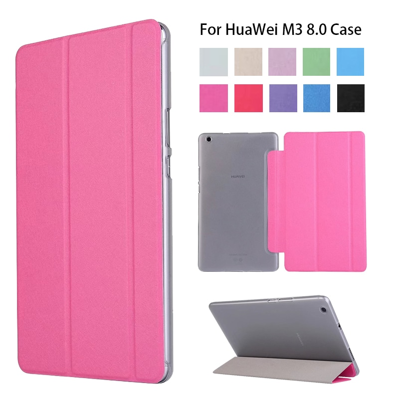 Cubierta de la caja para HuaWei Mediapad M3 Lite 8,0 2017 Nuevo PU Slim soporte inteligente para HUAWEI M3 8 pulgadas Tablet Funda caso