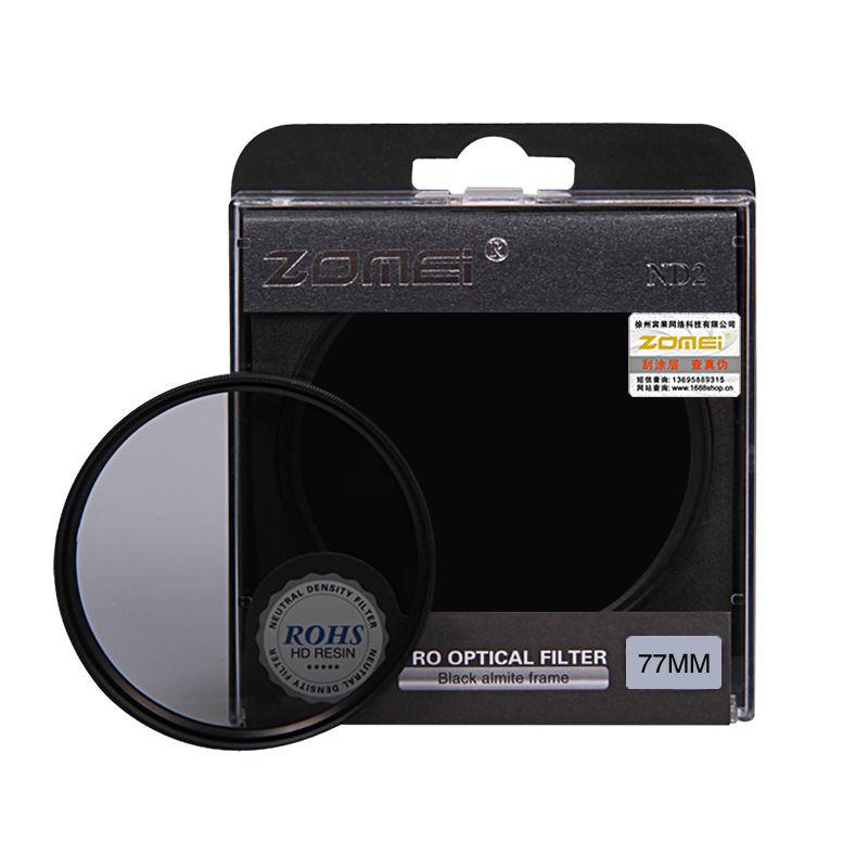 Zomei Neutral Density camera ND filter set kit 52mm 58mm 62mm 67mm 77mm 82mm ND2 ND4 ND8 for SLR DSLR camera lens