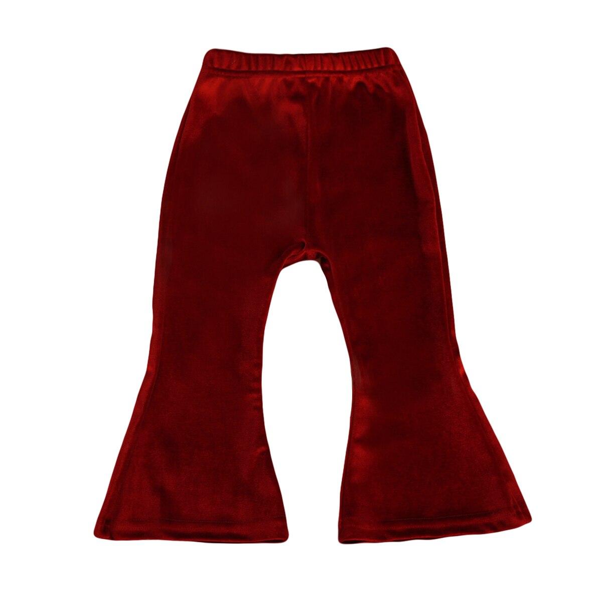 Niños bebé niñas campana inferior pierna ancha Flare estiramiento Boho pantalones largos niño Adorable bebé niña pantalones largos 1-5 y