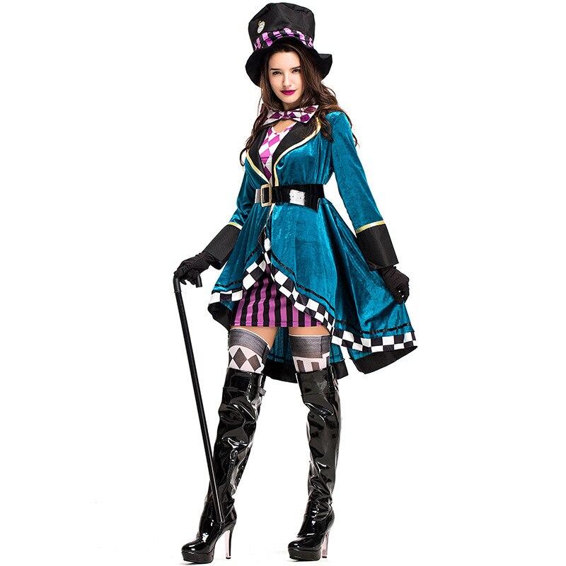 Alicia en el país de las Maravillas Sexy disfraz de Mad Hatter s mujeres Halloween fiesta traje disfraz de Mad Hatter adultos mujeres fantasías