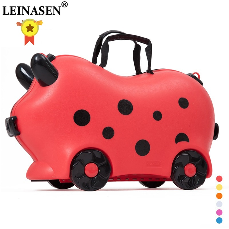 Children luggage kid suitcase locker handbag boy girl baby Toy box Pull rod Can sit ride Check