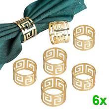 6 шт. кольца для салфеток из сплава, держатель для салфеток West Dinner, кольцо для салфеток, вечерние украшения, аксессуары для украшения стола, хогард