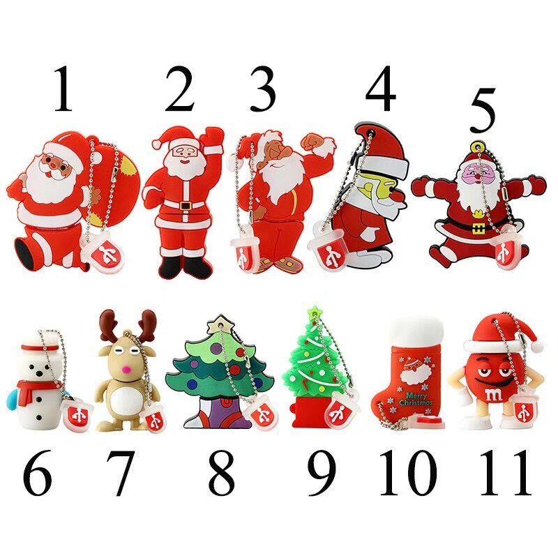 Pendrive con dibujo animado de árbol de Navidad, muñeco de nieve, 4GB,...