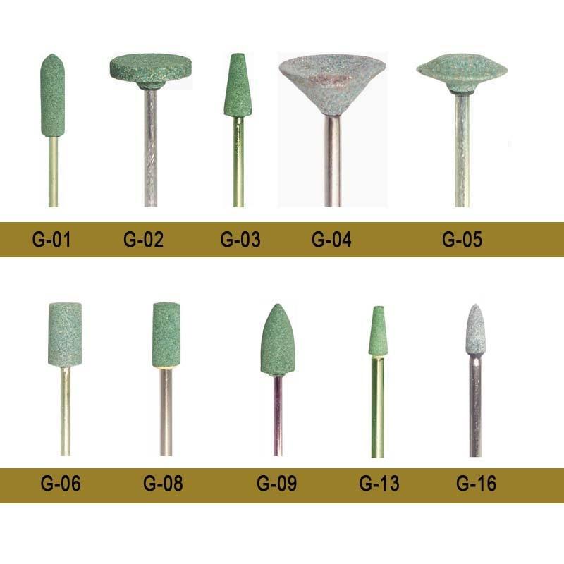 100 шт/кор. стоматологический каменный БУР с зеленым цветом средней контурной керамической полировки для металла и сплава