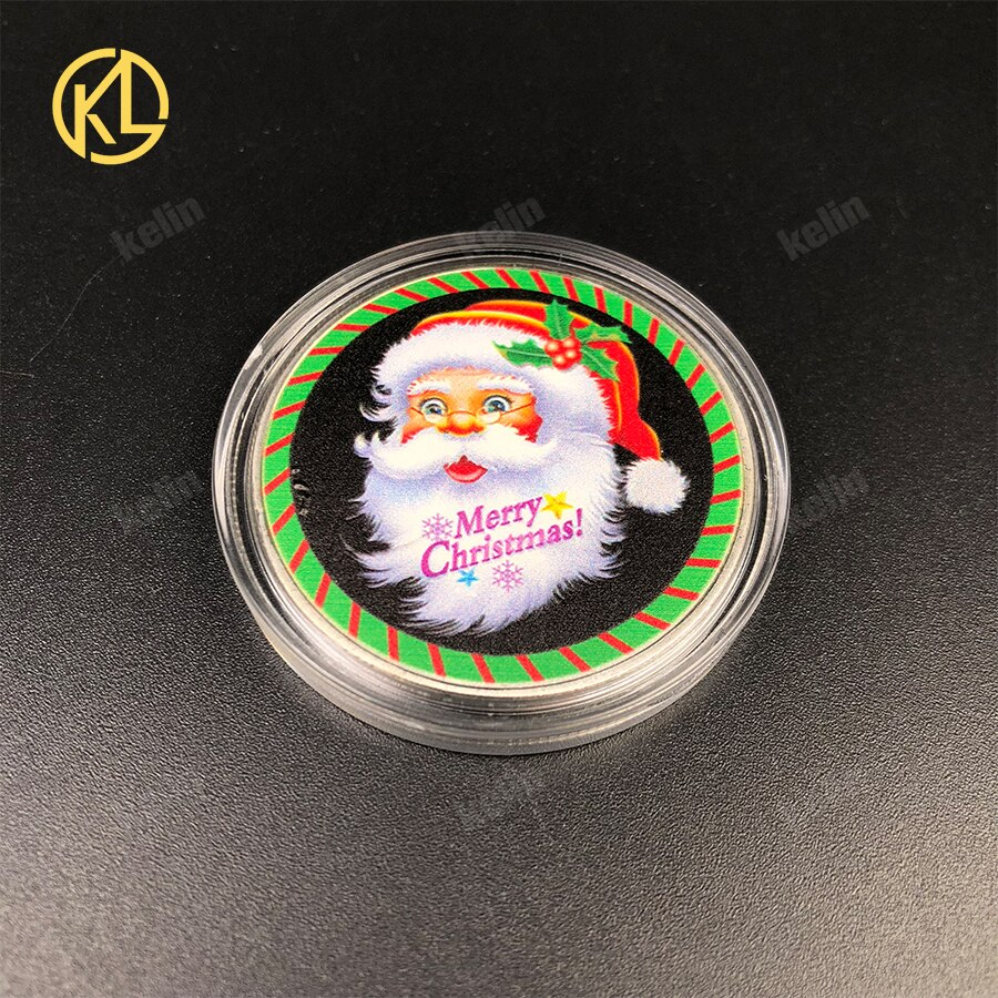 Venda quente Do Natal de Papai Noel Design Personalizado Desafio Moeda de Prata Banhado A Moeda Metálica de Papai Noel Do Natal para o Presente Do Festival