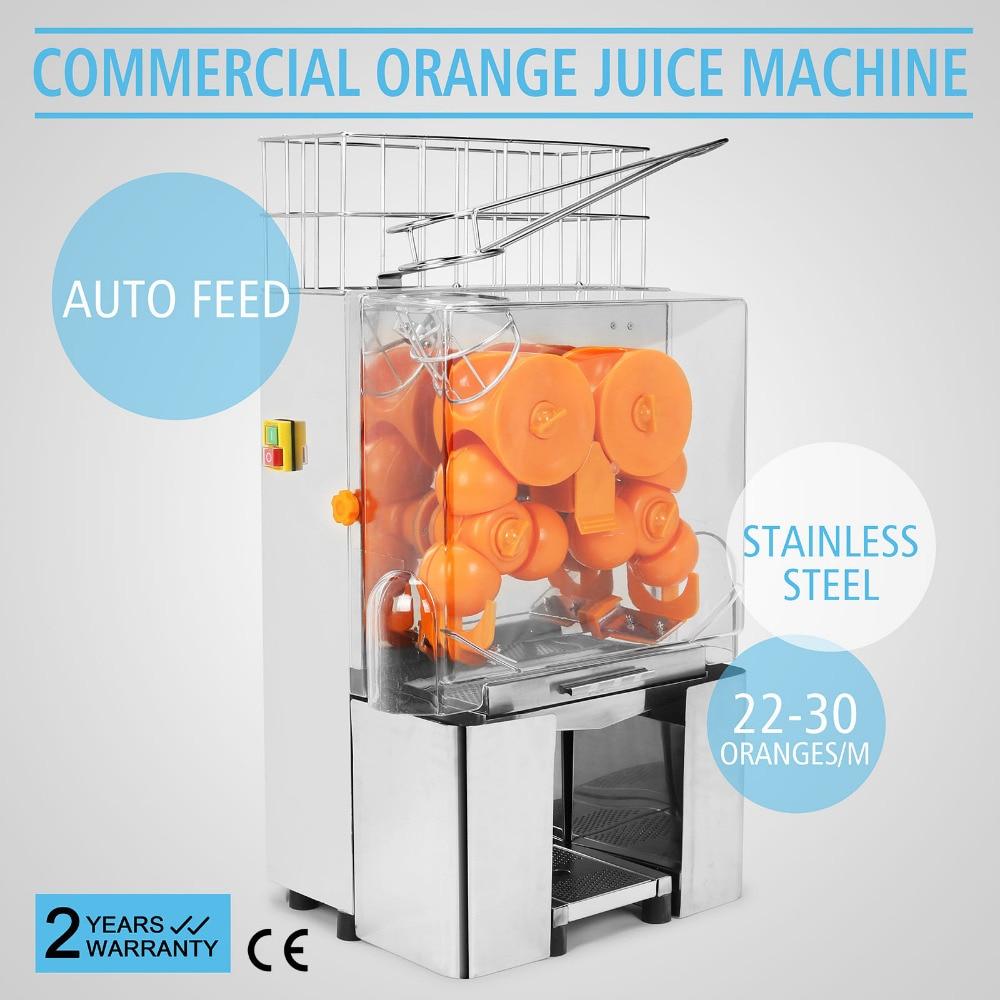 Exprimidor de zumo de naranja comercial, exprimidor de zumo de fruta de limón inoxidable