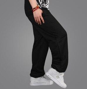 Mens Spring Autumn Loose Casual Pants Baggy Style Hip-Hop Elastic Waist Full-Length Streetwear Dance Jogger 2 Colors Sweatpants